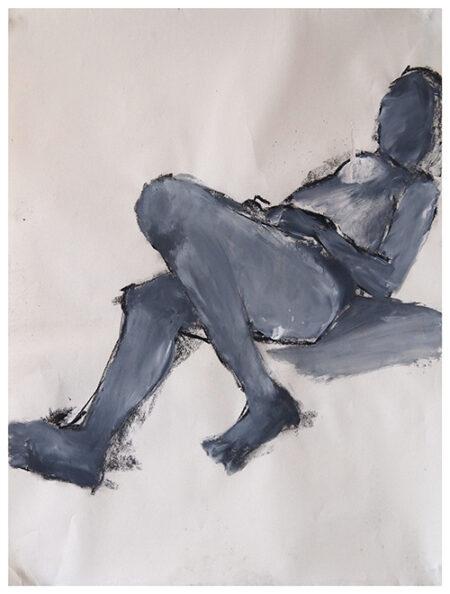 Charcoal drawing Tess