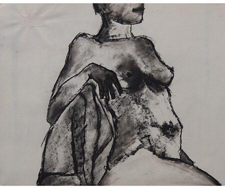Lieke charcoal drawing