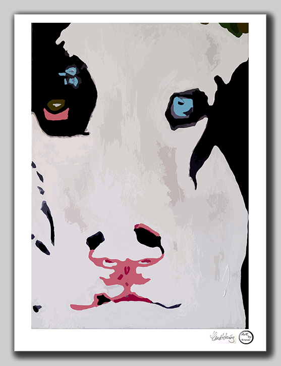 Kunst print 'Blue Eyed Mickey'
