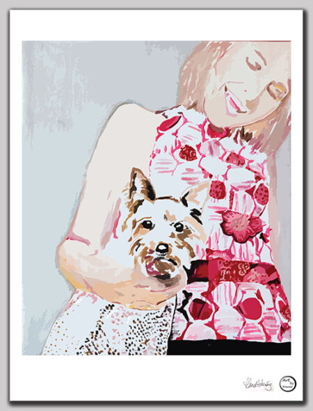 Art print Amsterdam 'Corgis Dog'