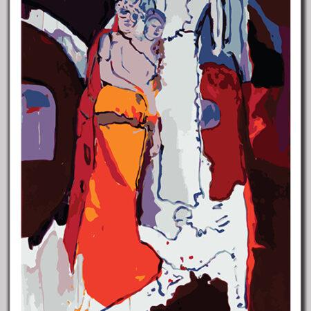 Art print 'Orange is the new black'