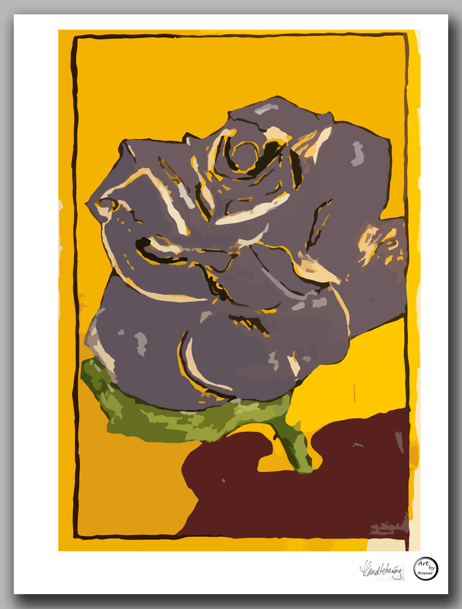 Art print Amsterdam 'Purple Rose'