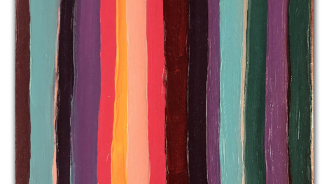 Stripes 001 30x40 cm Oil on canvas