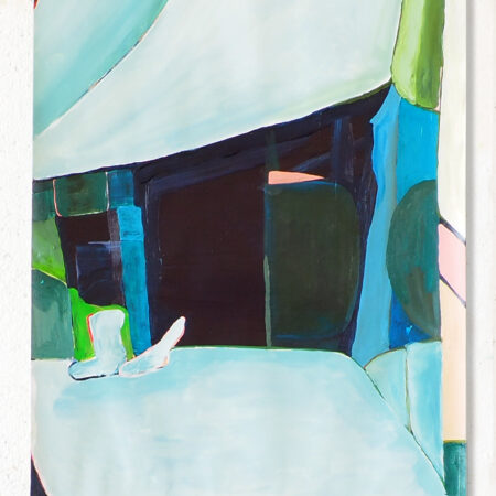 Interior nr. 086 Dimensions 40 cm x 60 cm Materials: acrylic on paper Year 2020