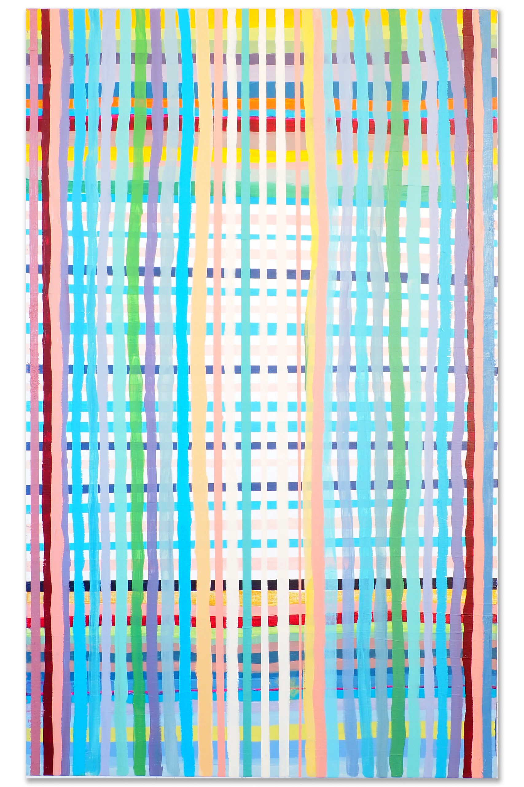 Grid nr. 004 Size 120 x80 cm Material acrylic and oil on canvas. Year 2017